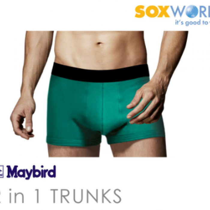 Sox World 2 in 1 Maybird Men Briefs Underwear Undergarment Innerwear Boxer Trunk 62-690 SoxWorld