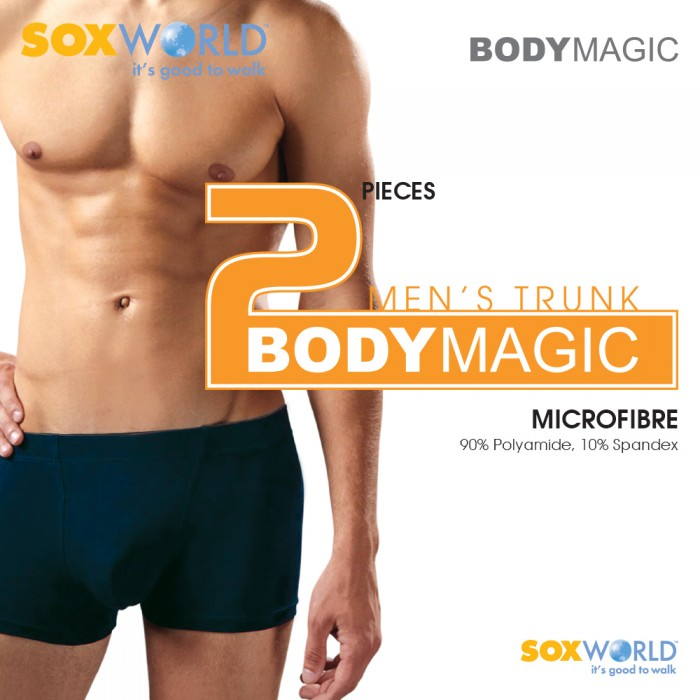 Body Magic 2Men MicroFiber Micro Fiber Boxer Trunk Briefs 27-22