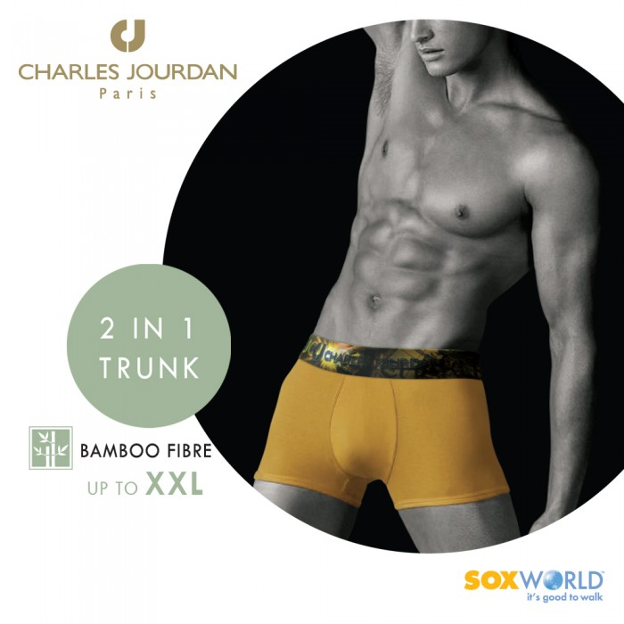 2 in 1 Charles Jourdan Bamboo Fibre Innerwear Underwear Boxer Trunk Briefs 50-CT-07 Soxworld
