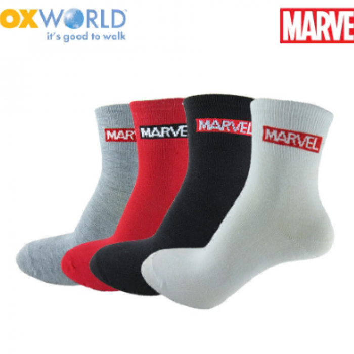 Marvel Ladies Socks by Sox World 78-053L Assorted Color (3 Pcs)