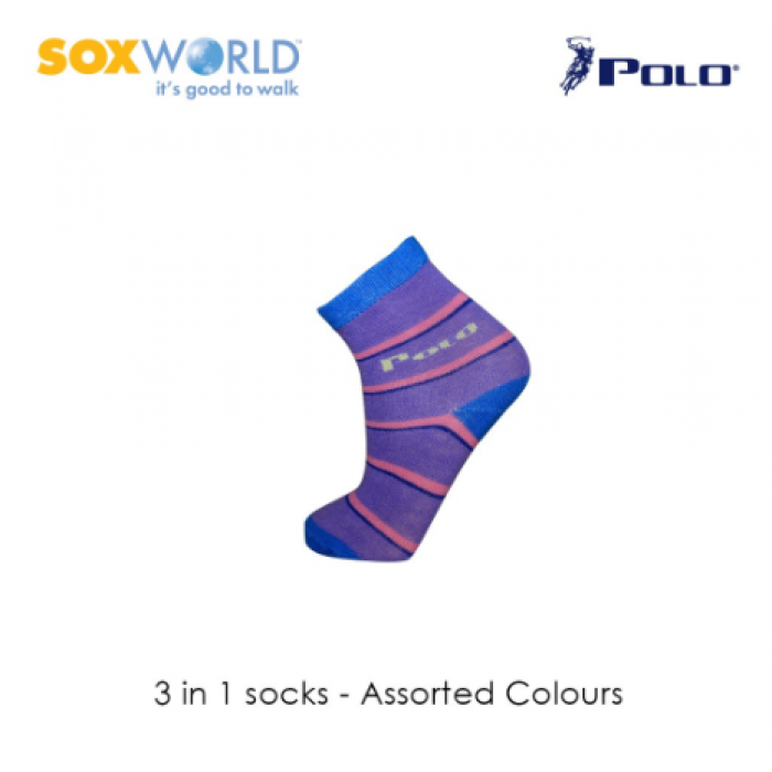 Polo Haus 3 in 1 SoxWorld Kids Socks (1 to 4 years old) 25-3916 Sox World