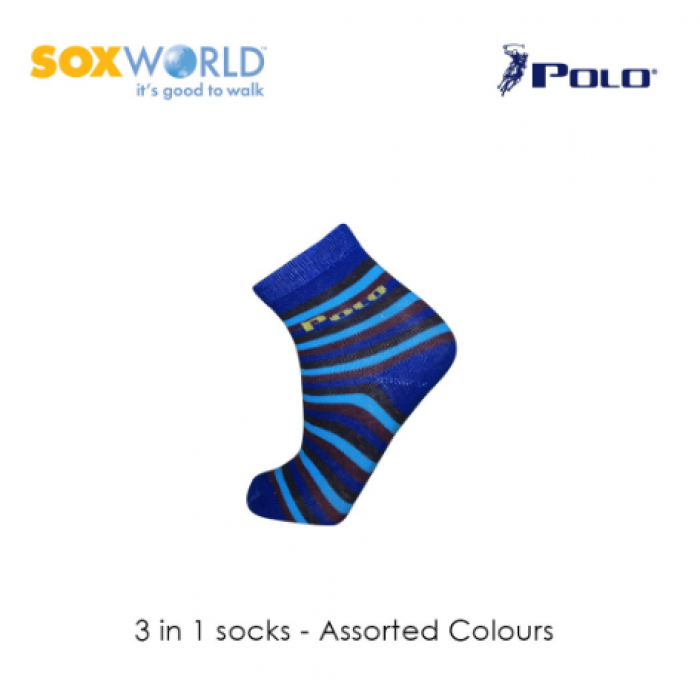 Polo Haus 3 in 1 SoxWorld Kids Socks (3 to 4 years old) 25-3902 Sox World