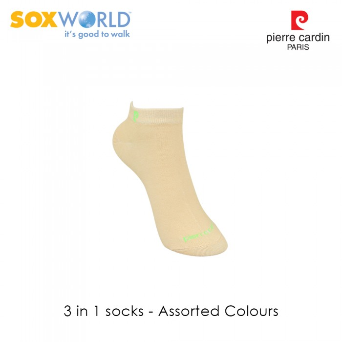 3 in 1 Pierre Cardin Ladies Ankle Socks by Sox World (3 Pcs) 95-5303