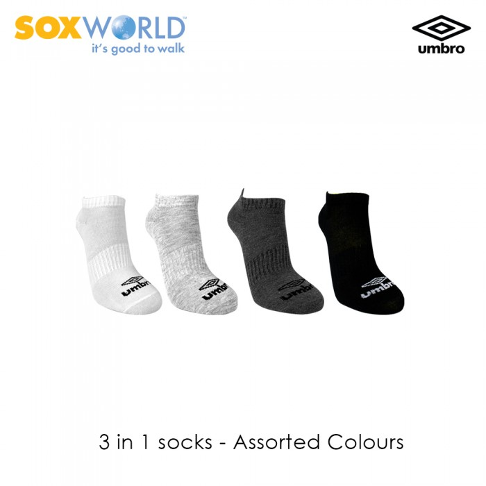 3 in 1 Umbro Normal Unisex Invisible Sport Socks 30-3317