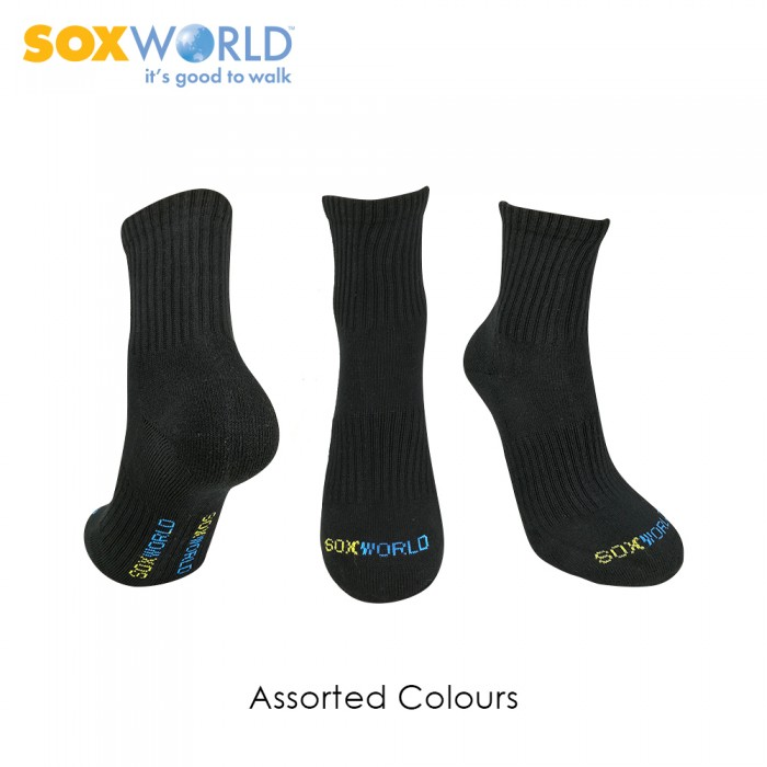 1 pair SoxWorld Unisex Ankle Socks Training Sock Sport Socks 10-7059