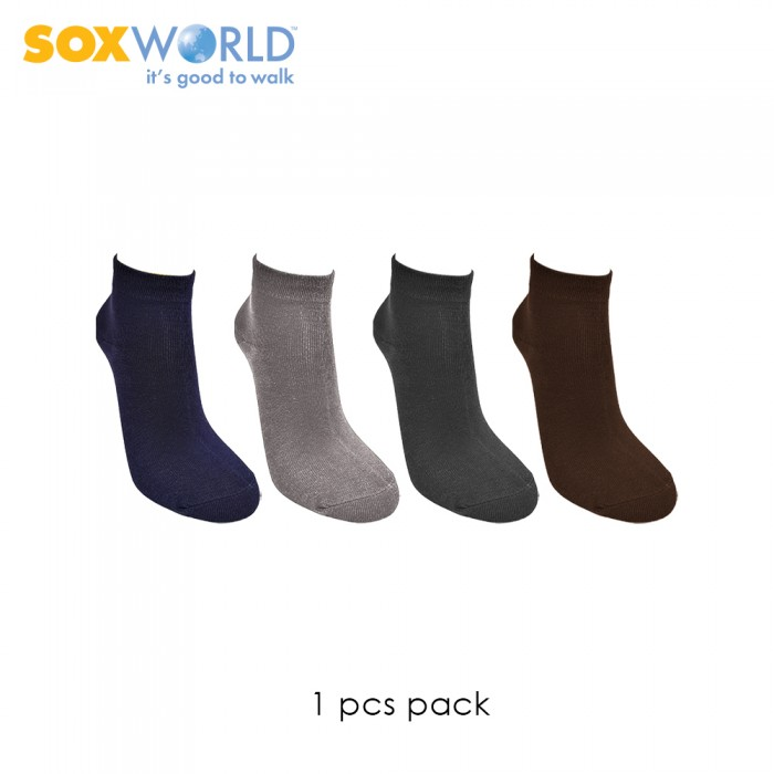1 pair SoxWorld Men Basic Ankle Socks 10-773