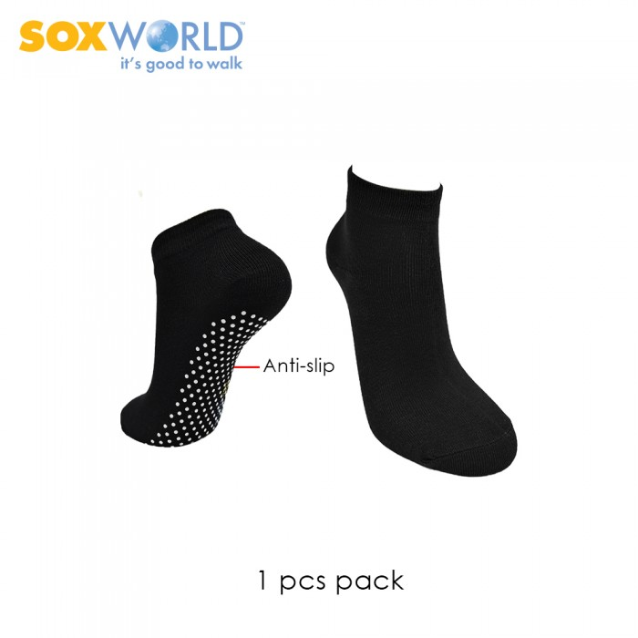 1 pair SoxWorld Men Basic Ankle Socks With Anti Slip 10-7733