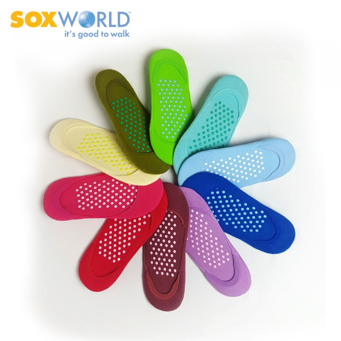 Soxworld Basic Women Foot Cover With Anti Slips and Full Terry 12-33478