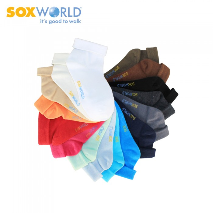 Sox World Basic Women Fold Back Low Cut Socks 12-59041
