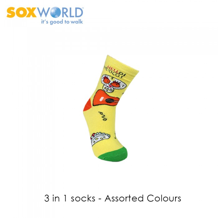 3 in 1 SoxWorld Kids Socks 19-406