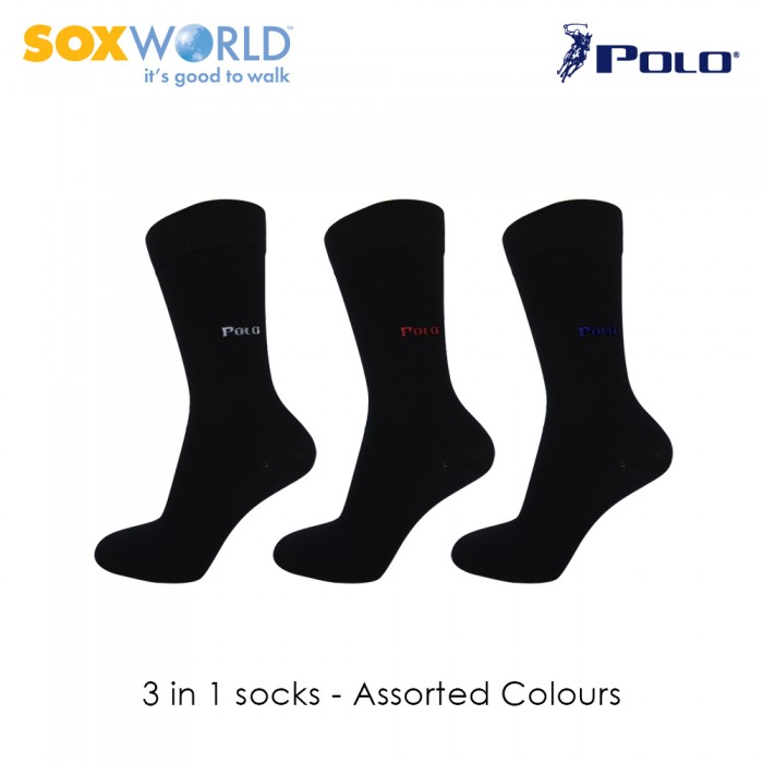 3 in 1 Polo Haus Crew Socks Formal Socks Work Socks 25-3256