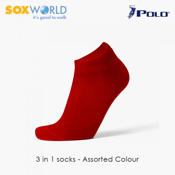 3 in 1 Polo Haus Ankle Socks Ribbed Socks  25-3259