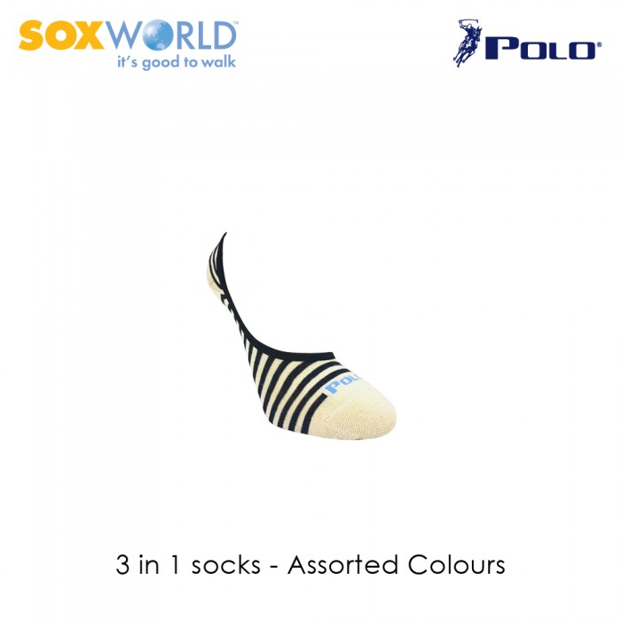3 in 1 Polo Haus Ladies Foot Cover Invisible Socks by Sox World (3 Pcs) 25-3438