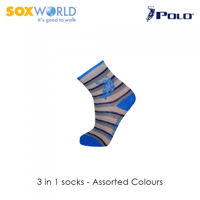 Polo Haus 3 in 1 SoxWorld Kids Socks (1 to 4 years old) 25-3915 Sox World