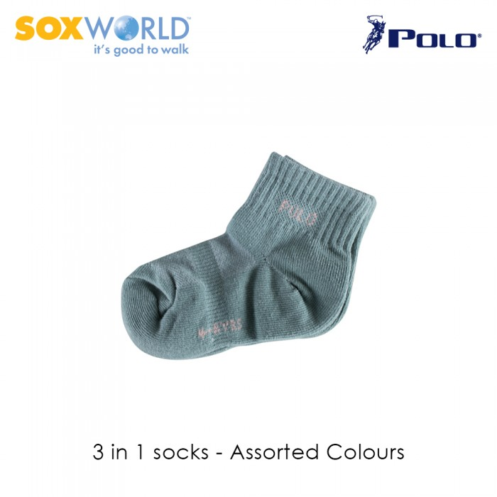 Polo Haus 3 in 1 SoxWorld Kids Socks (4 to 6 years old) 25-3919