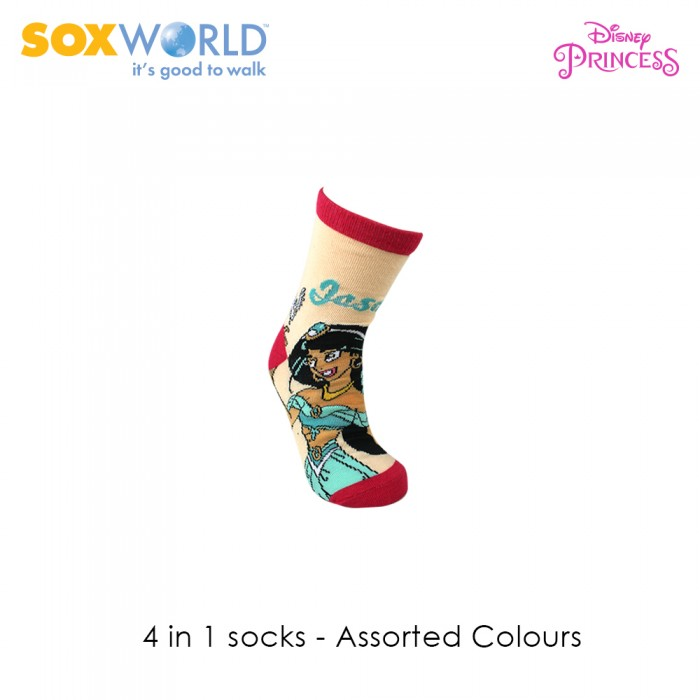 4 in 1 Disney Princess Girls Socks 88-025