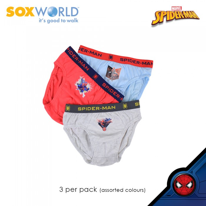 3 in 1 Boys Briefs Underwear Innerwear Marvel Spider Man 77-007