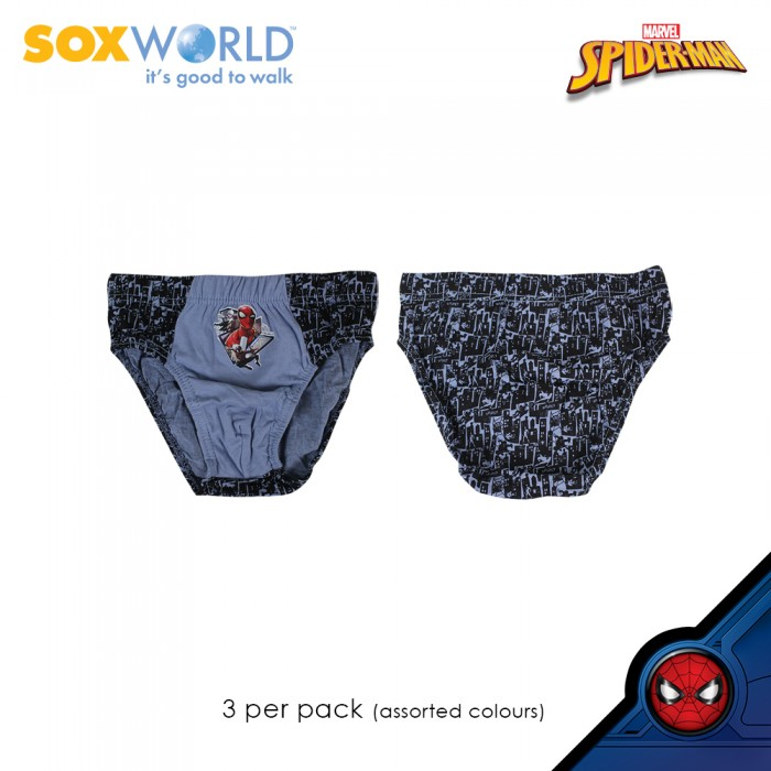 3 in 1 Boys Briefs Underwear Innerwear Marvel Spider Man SpiderMan 77-008