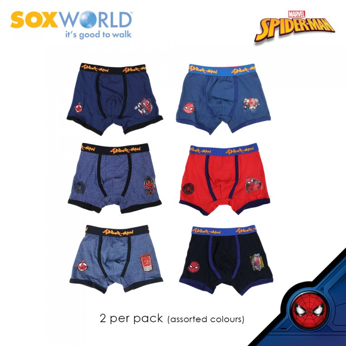 2 in 1 Boys Trunk Underwear Innerwear Marvel Spider Man 77-009