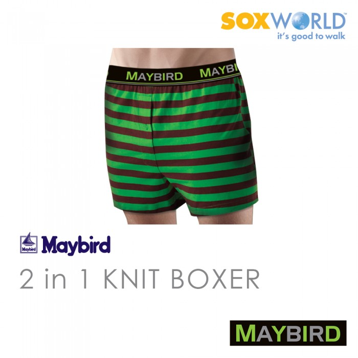 2 in 1 Maybird Men Briefs Underwear Undergarment Innerwear Boxer Trunk 62-675