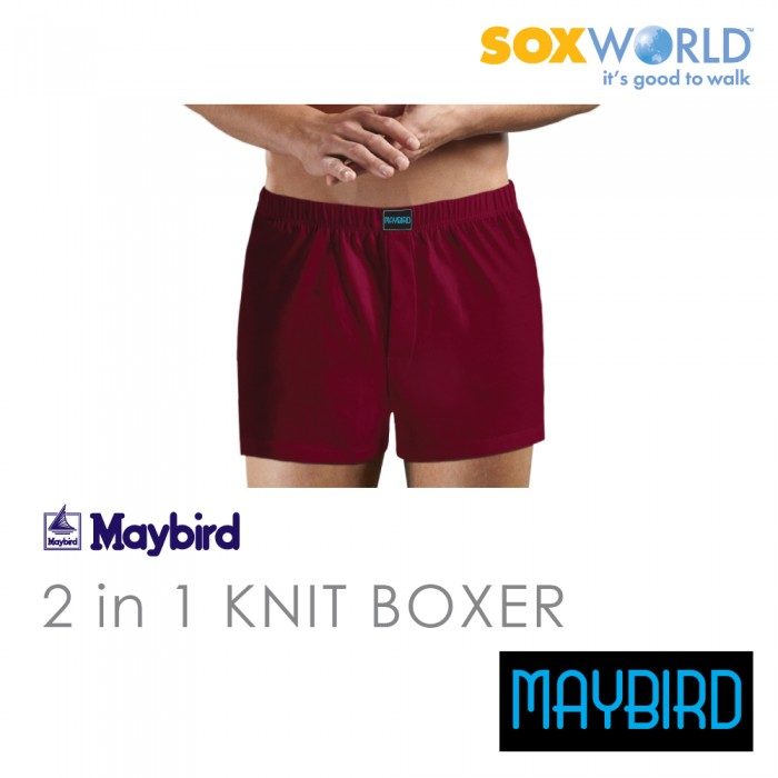 2 in 1 Maybird Men Briefs Underwear Undergarment Innerwear Boxer Trunk 62-688