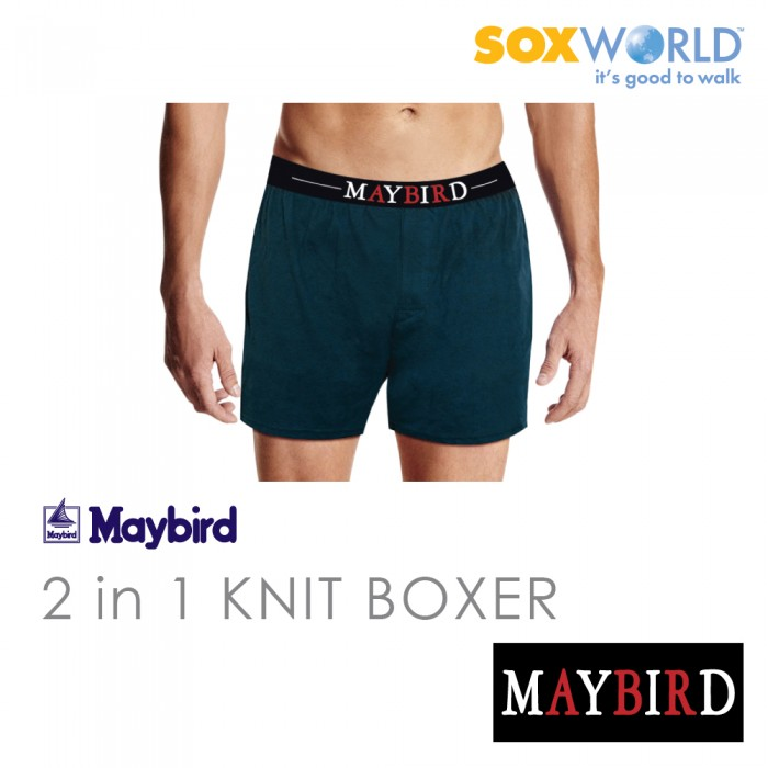2 in 1 Maybird Men Briefs Underwear Undergarment Innerwear Knit Boxer Trunk 62-689