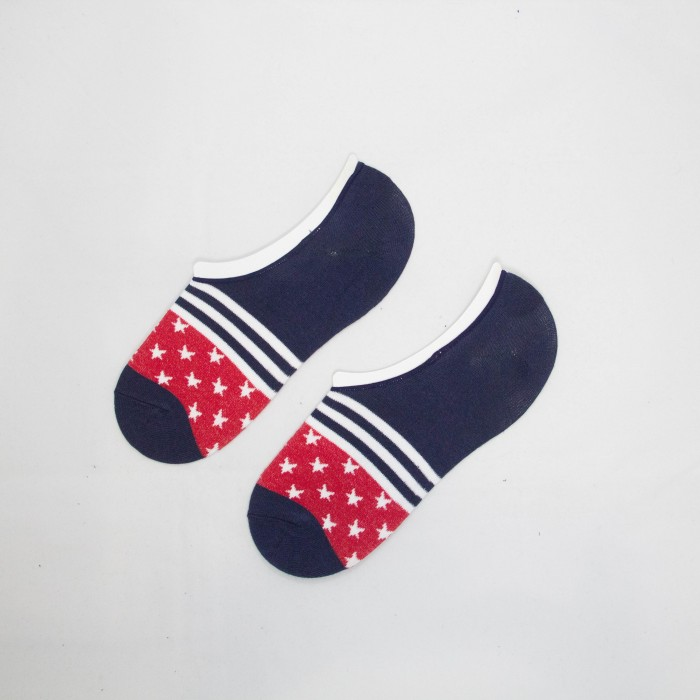 Polo Star Line Men Low Cut Socks (Blue)