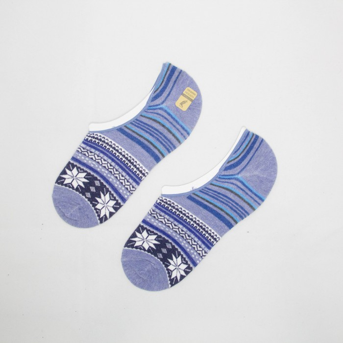 Polo Snowflake Men Low Cut Socks ( Light Blue)