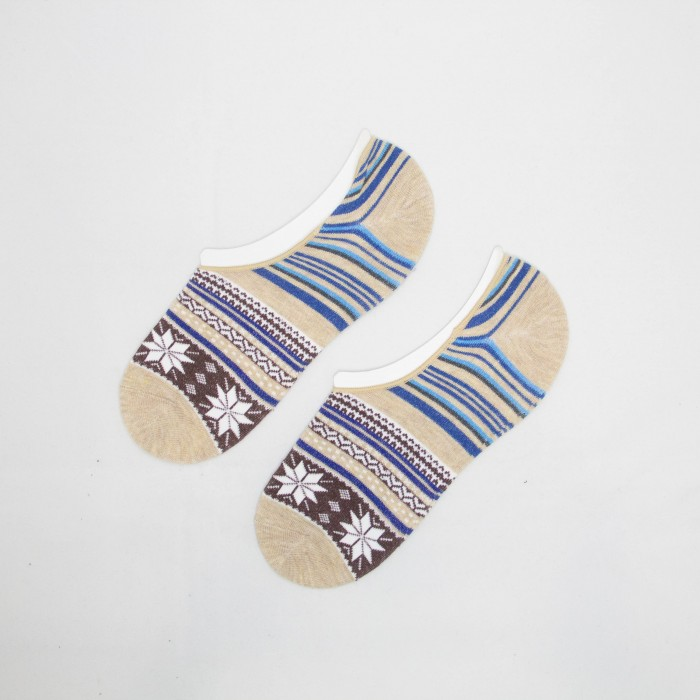 Polo Snowflake Men Low Cut Socks ( White)