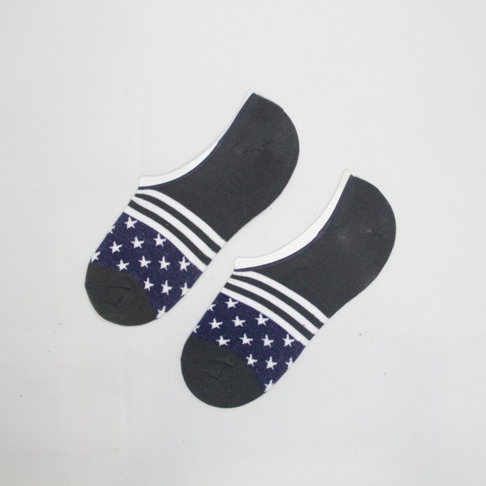Polo Star Line Men Low Cut Socks (Grey)