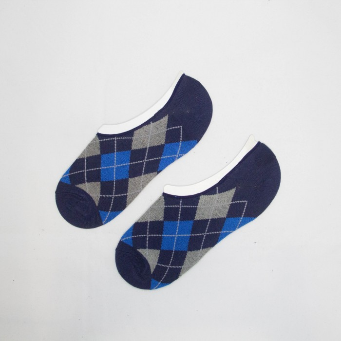 Polo Square Box Men Low Cut Socks (Blue)