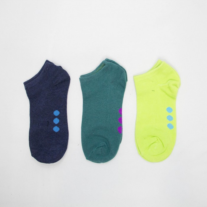 OJ Women Low Cut Socks - 3 Pairs Pack (Assorted Colour)
