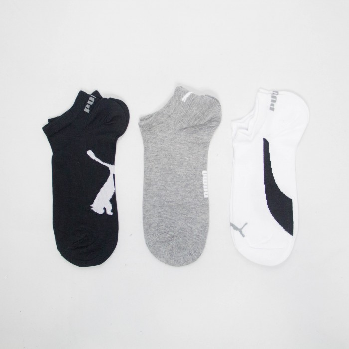 Puma Inline Unisex Low Cut Socks - 3 piece (Assorted Colours)