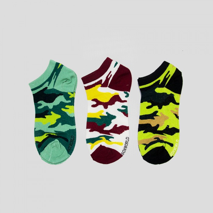 Sox World Women Low Cut Socks - 3 Pairs Pack (Assorted Colour)