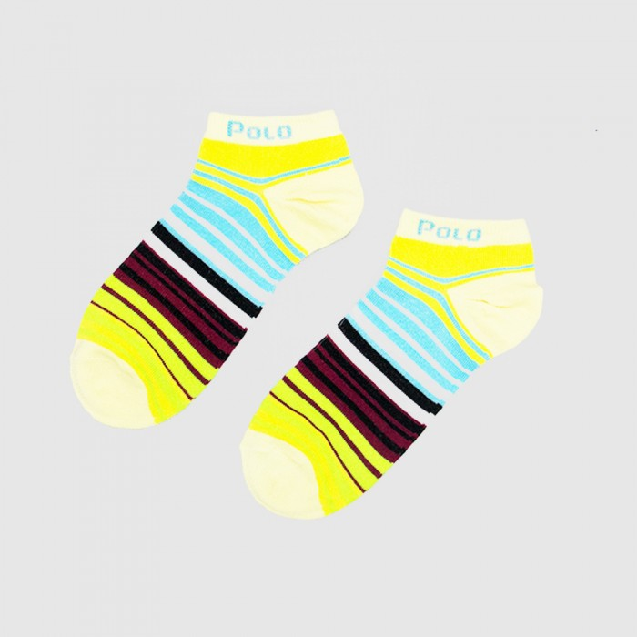 Polo Women Low Cut Socks - 3 Pairs Pack (Assorted Colour)