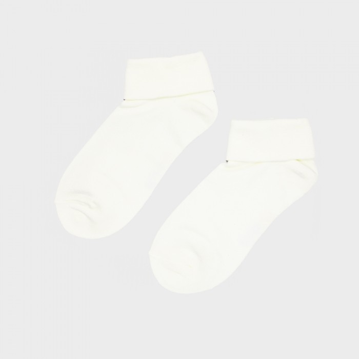 Sox World Women Fold Back Low Cut Socks (Beige)