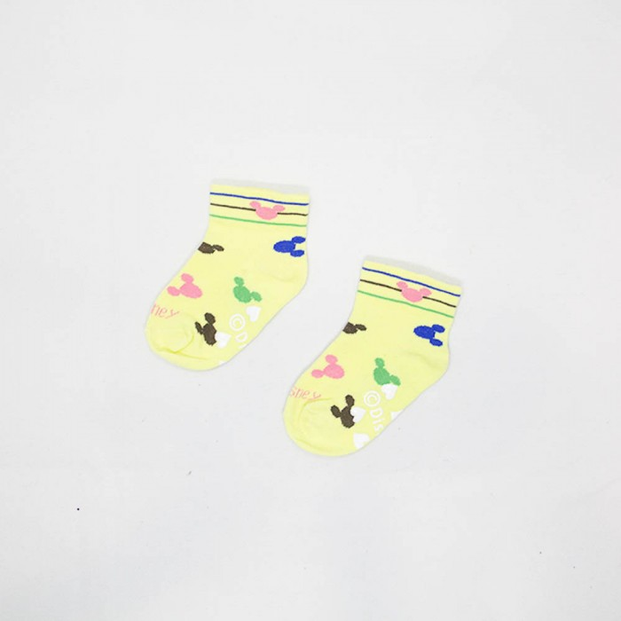 Mickey Mouse Kids Non Slip Low Cut Socks - 3 Pieces (Assorted Colour)