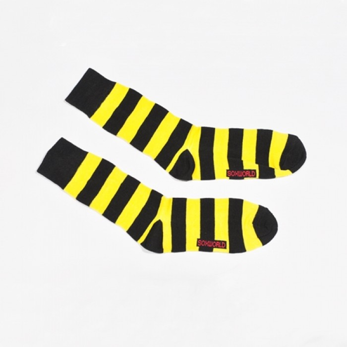 Sox World Bumblebee Stripe Men Calf Socks