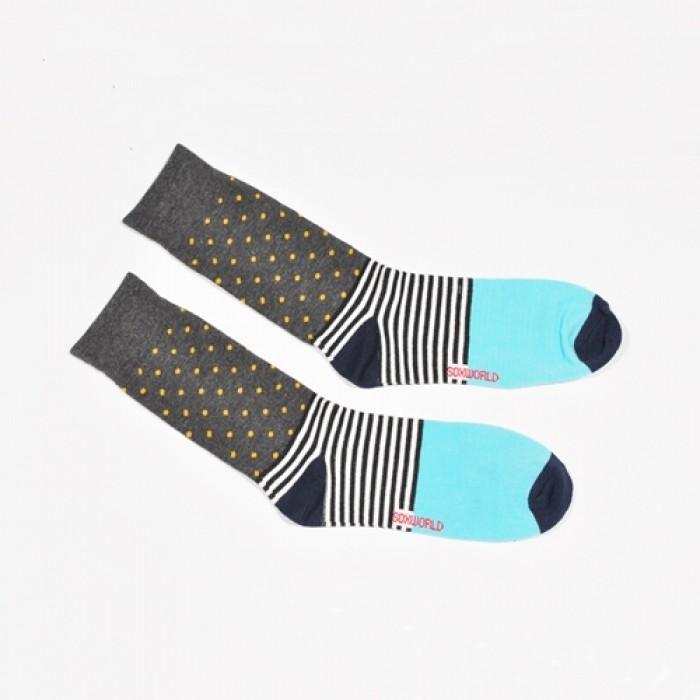 Sox World Polka Dots Men Calf Socks