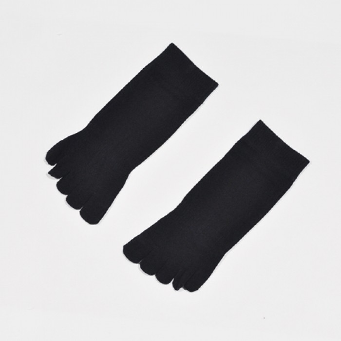 Soxworld Basic Women Toes Socks (Black)