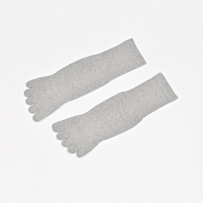 Sox World Basic Unisex Long Toes Socks (Grey)