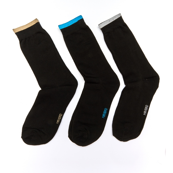 Maybird Basic Men Calf Socks - 3 Pairs Pack (Assorted Colour)