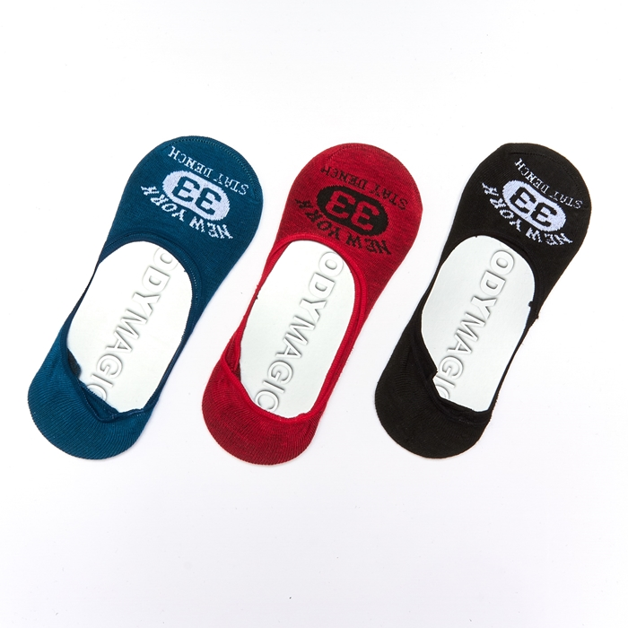 Maybird Basic Men Invisible Socks - 3 Pairs Pack (Assorted Colour)