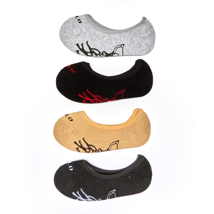 Polo Graphic Men Low Cut Socks - 2 Pairs Pack (Assorted Colour)