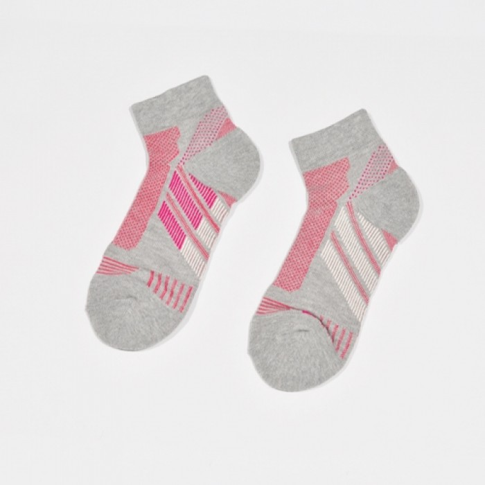 Sox World Sporty Girls Jogging Socks (Grey)