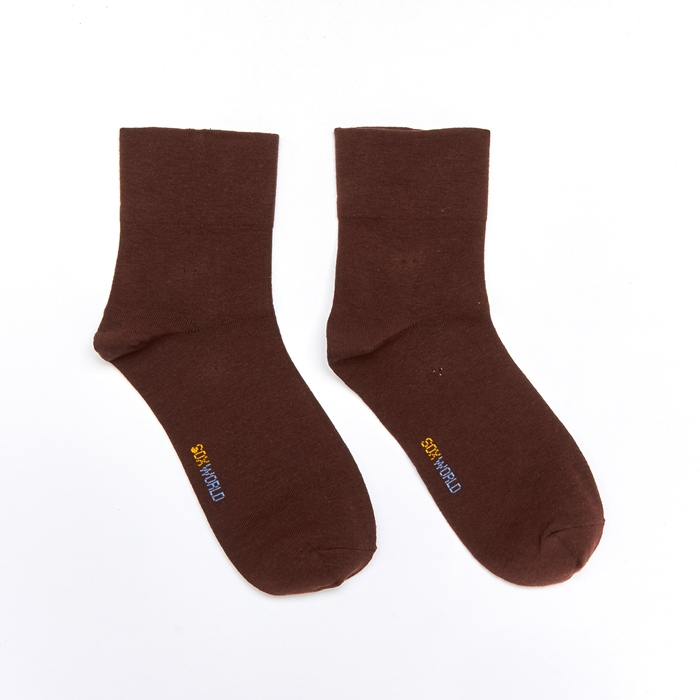 Soxworld Basic Women Calf Socks (Brown)