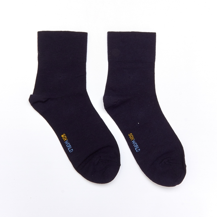 Soxworld Basic Women Calf Socks 2 (Black)
